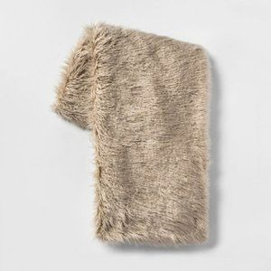 NEW Project 62 Target Mongolian Faux Fur Throw Tan